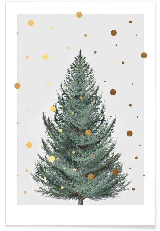 "Let it snow, let it snow, let it snow (around this ""fake"" christmas tree."