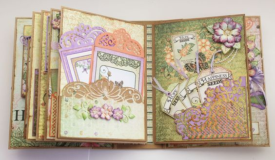 5 inspiring ideas for the Fleur Borders and Pockets Die - Heartfelt Creations