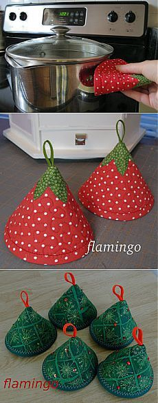 такие необычные прихватки для горячего.http://www.pinterest.com/pokora11/gifts-i-can-make-myself/: