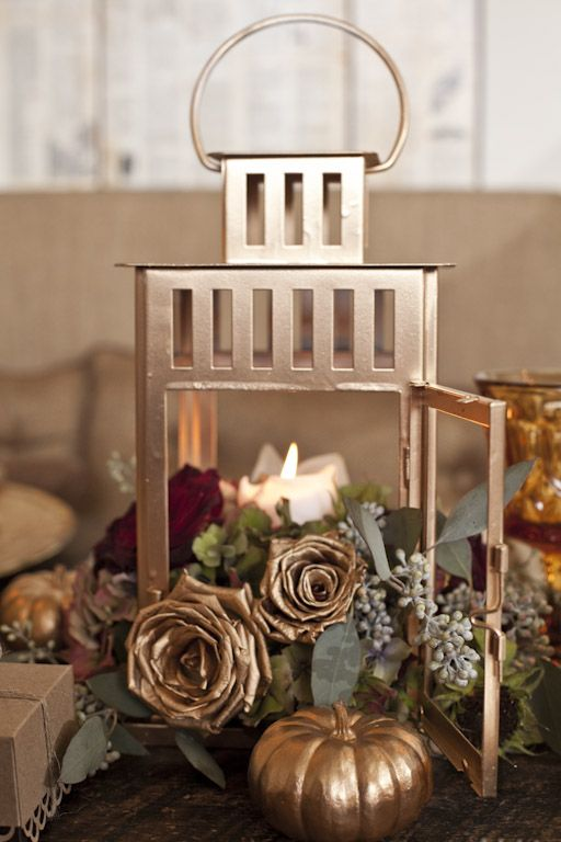 Add some rose gold to a BORRBY lantern and make it the star of your table.