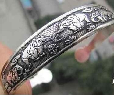 Silver Tibet Elephant Bracelet - FREE SHIPPING!!!! $5.99