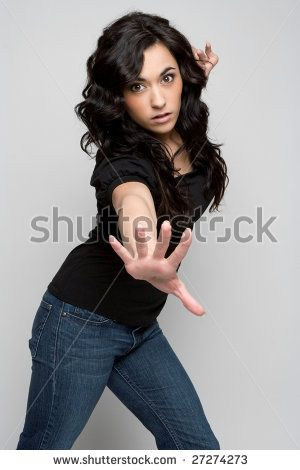 stock photo : Woman Reaching Out