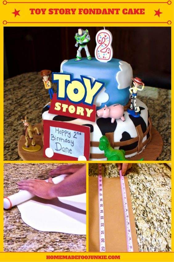 Toy Story Fondant Cake This adorable Toy Story cake tutorial is a big help on making your Toy Story fan ecstatic! Complete with personal toys!
