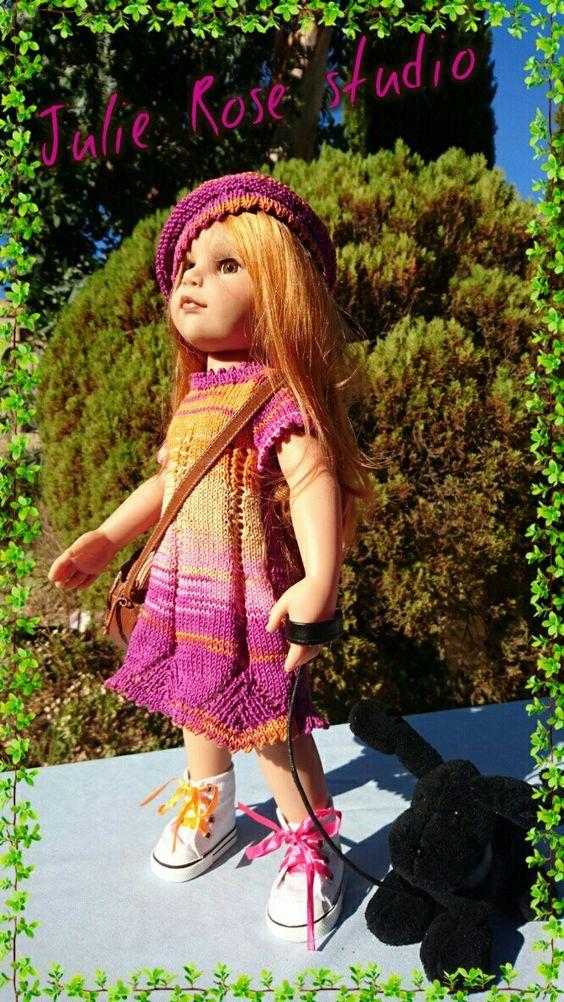 Ensemble tricoté pour poupée Gotz