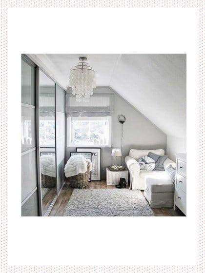 kleines schlafzimmer einrichten - helle farben | living ideas