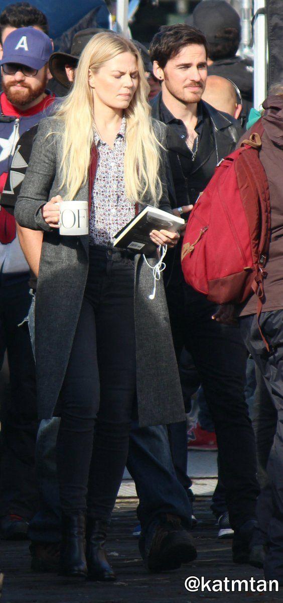Colin O'Donoghue -Killian Jones - Captain Hook and Co Star Jennifer Morrison - Emma Swan on Once Upon A Time S6