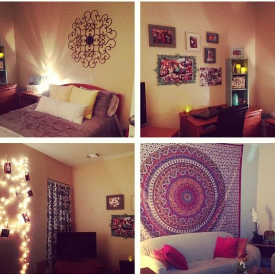 Dorm aesthetics and decoration on pinterest College dorm wall decor