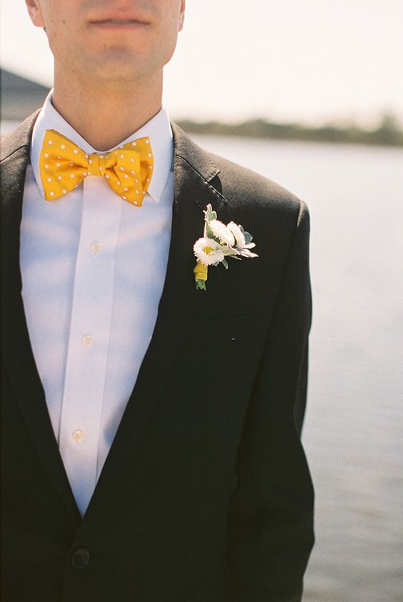 yellow polka dot... bow tie