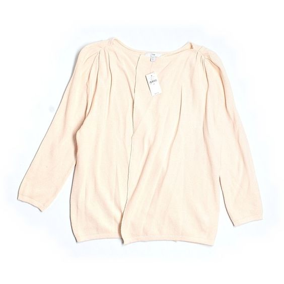 Pre-owned Gap Cardigan ($21) ❤ liked on Polyvore featuring tops, cardigans, pink top, pink cardigan, gap cardigan and gap tops