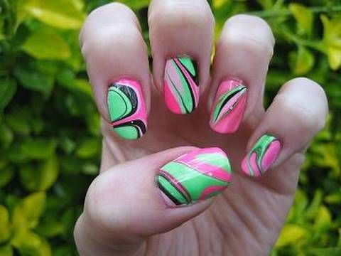 Nail Marbling - I have to learn how to do this!
