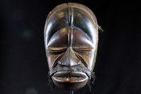 Afrikana: DAN Tanzmaske 1920-30er Jahre, 29cm