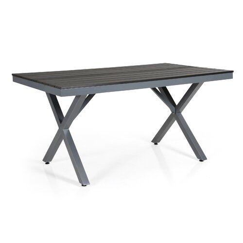 Jadyn Aluminium Dining Table Wade Logan Table Frame Colour Grey