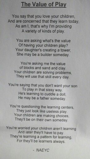 Value Of Play-