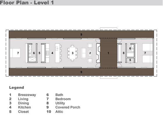 Modern Style House Plan - 2 Beds 2 Baths 1730 Sq/Ft Plan #491-10 Main Floor Plan - Houseplans.com