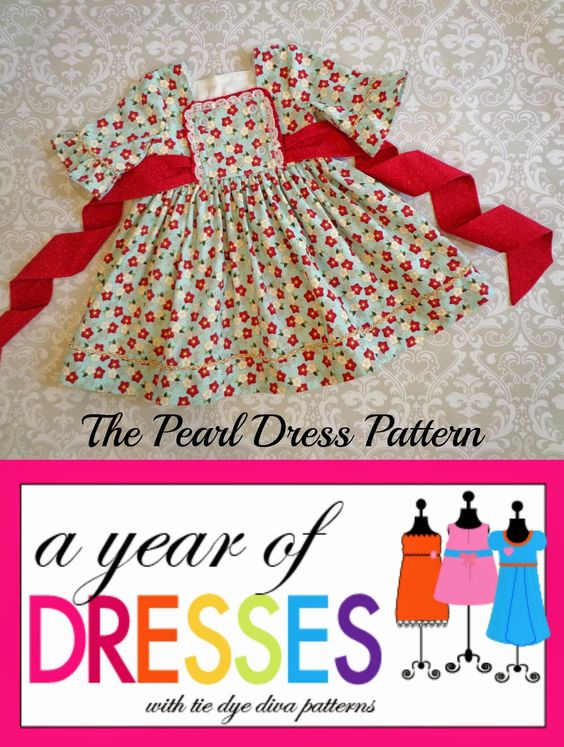 Tie Dye Diva Patterns: A Year of Dresses: Pearl Dress