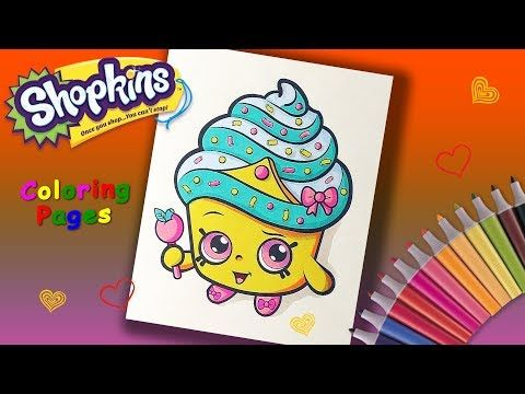 Shopkins Coloring Book How To Color Shopkins Cupcake Queen