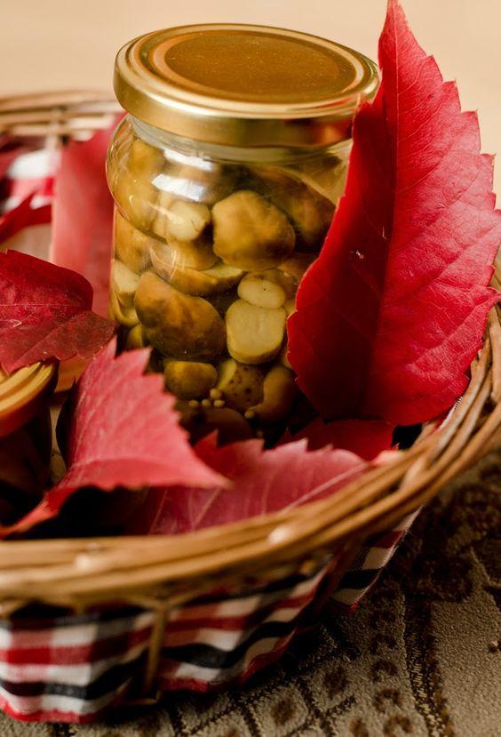 Podgrzybki Marynowane Grzyby W Occie Food Cooking Vegetables