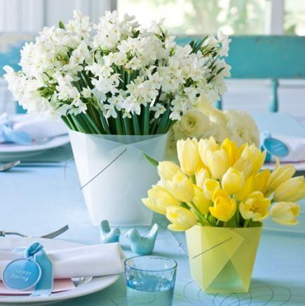 idées décoration table de printemps