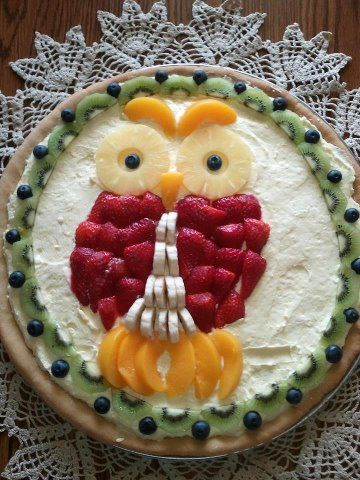 Fruit Shaped Cake Decoration : Fruit Pizza My daughter requested a
