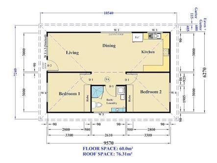 Image Result For Granny Flat Plan 60 Square Meters Granny Flat Granny Flat Plans Small House Floor Plans