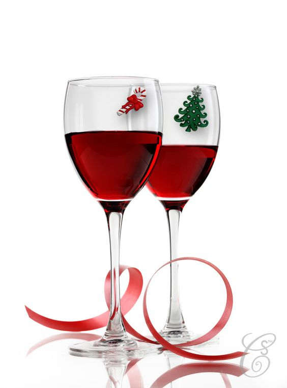 Christmas Eve Magnetic Wine Charms Only $15.99 at wineswithcharm.com #gift