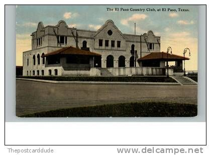 El Paso TX Country Club c1910