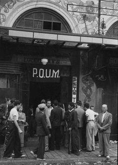 POUM (31) - Oficina de alistamiento del POUM en Barcelona (Teatro Principal). été 1936