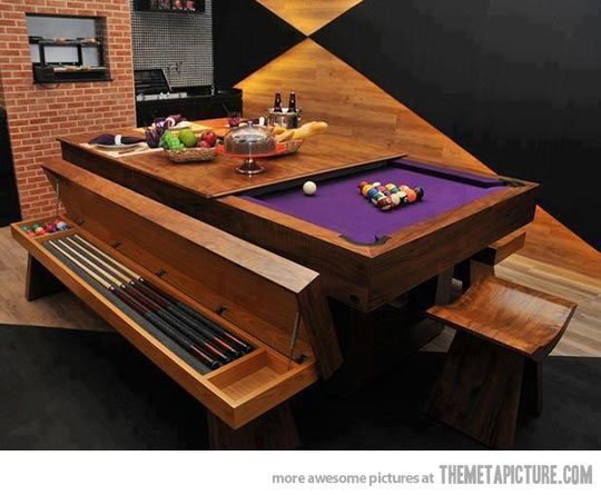 . Awesome pool table design    Pool table  Men cave and Cave