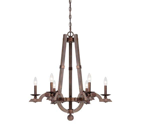 Berwick 6 Light Wood Chandelier