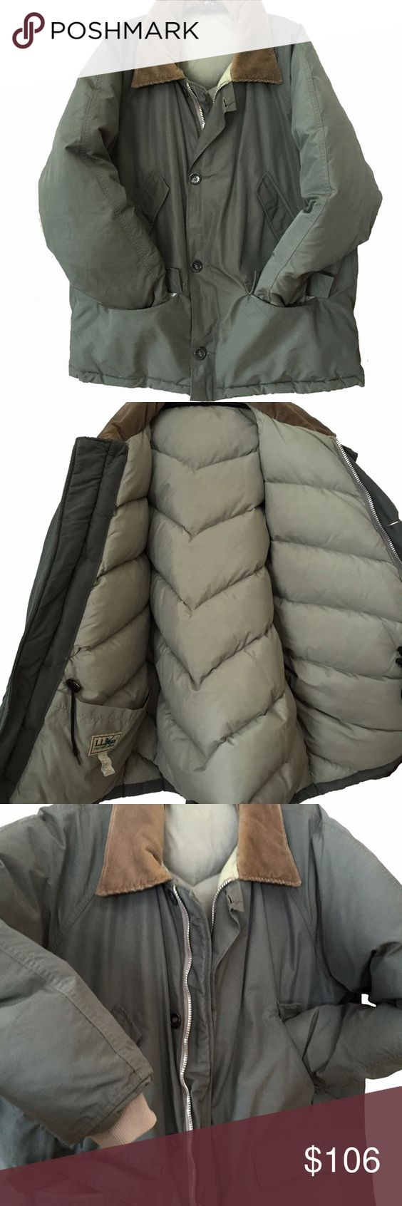 NEW LLBean 100% goose down jacket parka coat WOW
