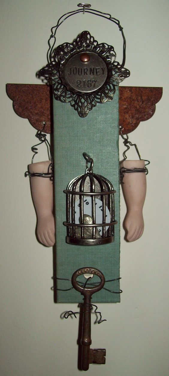 junkie chunkie doll by ms art of my artful nest: Art Dolls