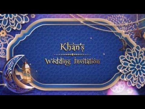 Muslim Islam Wedding Invitation Video Create Wedding Invitations Wedding Invitation Video Wedding Invitations