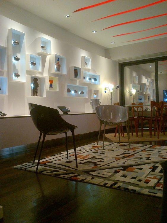 mur courbe en corian et faux plafond lumineux cr ation. Black Bedroom Furniture Sets. Home Design Ideas