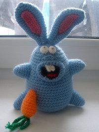 Crazy crochet bunny pattern