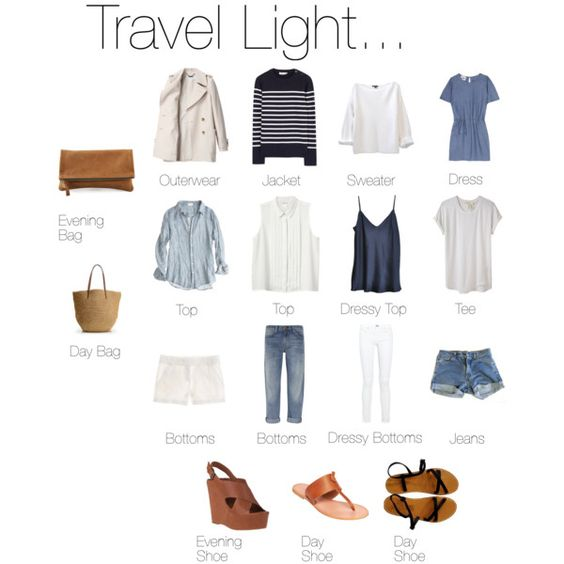 Packing light for a warm destination: