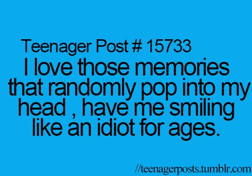 """Lol happens all the time! And then I get """"the look"""" from people who just see me smiling idiotically lol"""