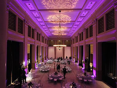 Lavender and gold wedding lighting by Love in the Mix, San Francisco Bay Area.