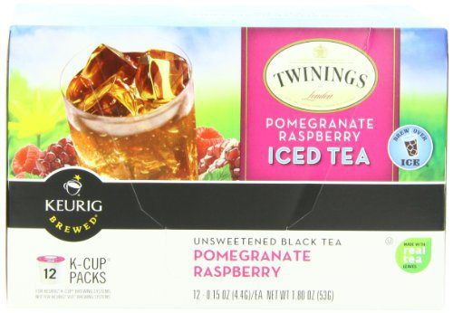 Twinings Iced Tea K-Cups, Pomegranate Raspberry,  12 count - http://teacoffeestore.com/twinings-iced-tea-k-cups-pomegranate-raspberry-12-count/