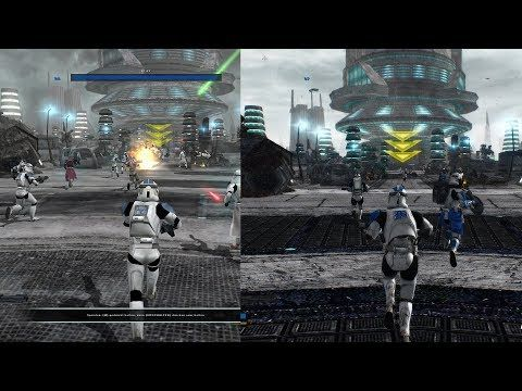 Star Wars Battlefront 2 Hd Remaster Trailer Before After Comparison Youtube Star Wars Battlefront Battlefront Star Wars