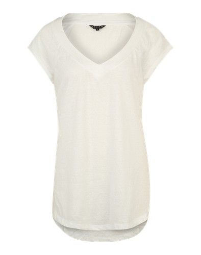 Review Shirt mit V-Ausschnitt weiß