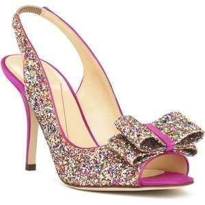 kate spade charmed heels. mine have gold instead of pink - they're even better!