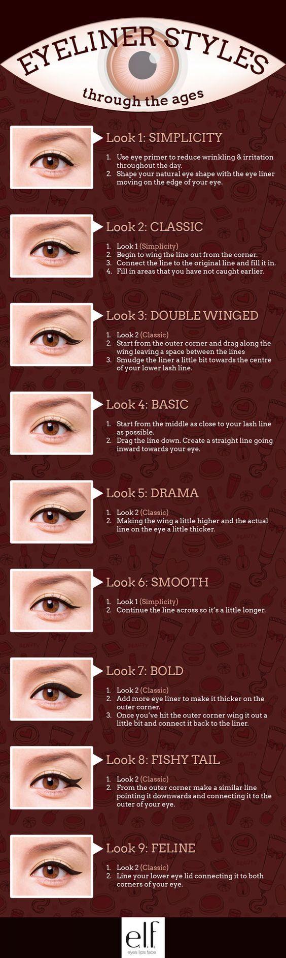 Simple Eyeliner Tutorials for Perfect Eyeliner Looks by Makeup Tutorials at http://makeuptutorials.com/makeup-tutorials-beauty-tips: