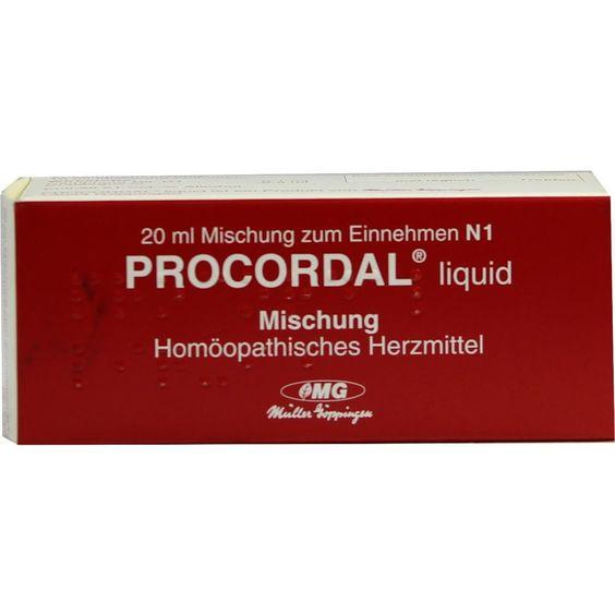 PROCORDAL Liquid:   Packungsinhalt: 20 ml Dilution PZN: 01641540 Hersteller: COMBUSTIN Pharmaz. Präparate GmbH Preis: 6,61 EUR inkl. 19 %…
