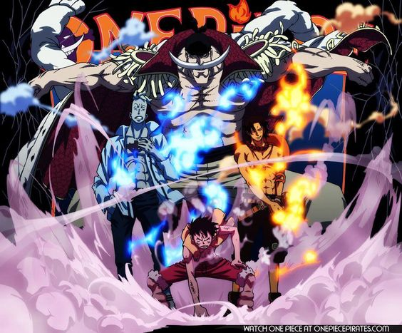 Monkey D. Luffy, Portgas D. Ace, Marco Phoenix White Beard, One Piece - Anime