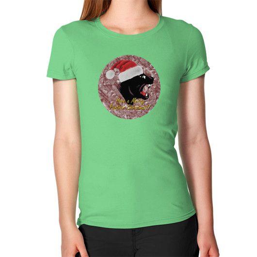 Women's T-Shirt - Merry Panther Christmas