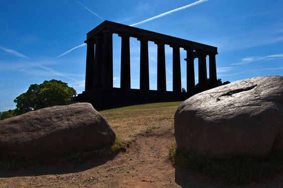 Pillars in the park by Randy Dorman
