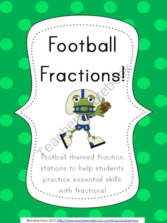 math worksheet : math stations common core math and fractions on pinterest : Football Maths Worksheets