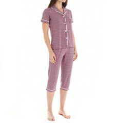 DKNY Playful Prints Short Sleeve Top & Capri PJ Set
