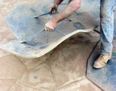 How to stamp concrete Gardening Pinterest Stamped concrete