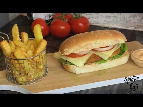 Chicken Burger Just Like Burger King Chicken Burger Recipe At Home Youtube In 2020 Chicken Burgers Chicken Burgers Recipe Burger